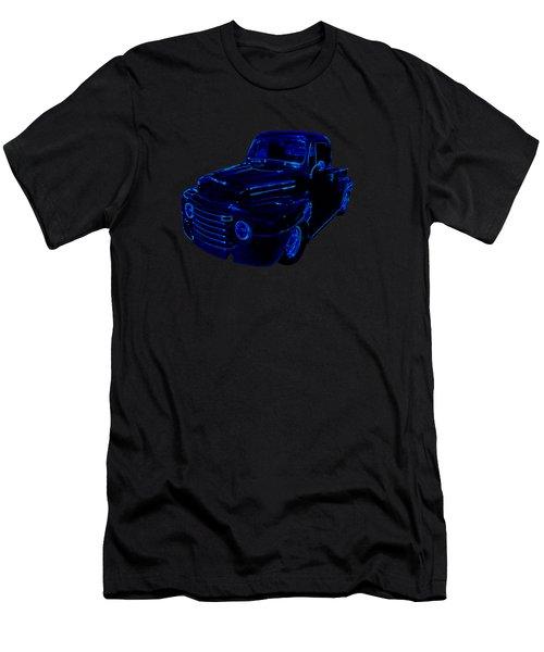 Truck Art Neon Blue Men's T-Shirt (Athletic Fit)