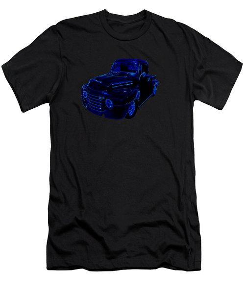 Truck Art Neon Blue Men's T-Shirt (Athletic Fit)