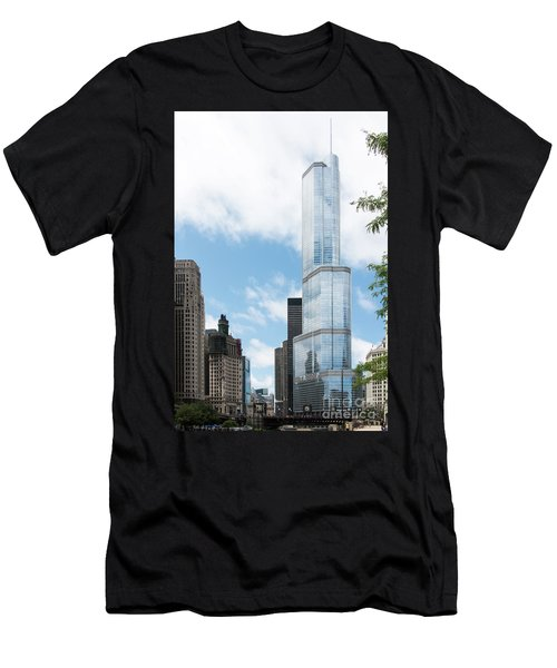 Trump Tower In Chicago Men's T-Shirt (Athletic Fit)