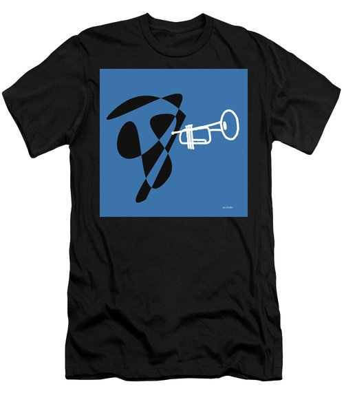 Trumpet In Blue Men's T-Shirt (Slim Fit) by David Bridburg