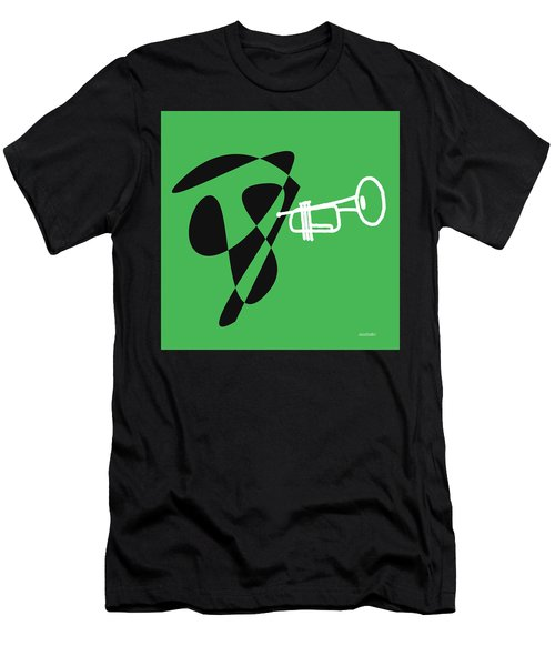 Trumpet In Green Men's T-Shirt (Slim Fit) by David Bridburg