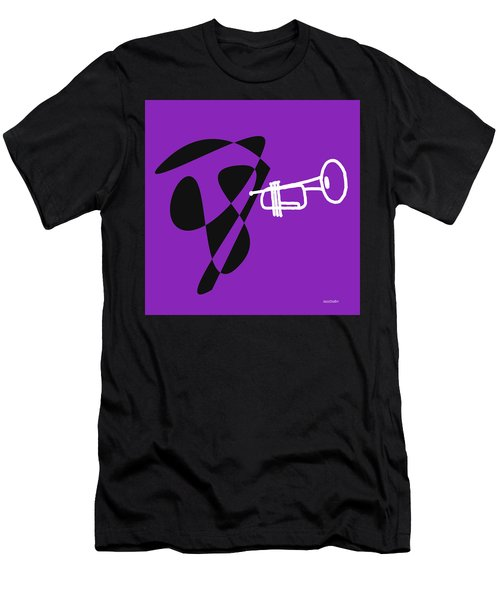Trumpet In Purple Men's T-Shirt (Slim Fit) by David Bridburg