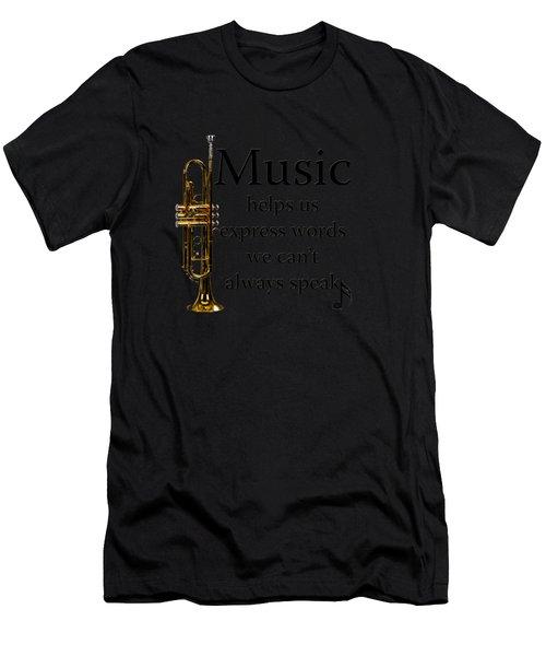 Trumpet Music Expresses Words Men's T-Shirt (Athletic Fit)