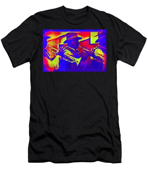 Trumpet Player Pop-art Men's T-Shirt (Athletic Fit)