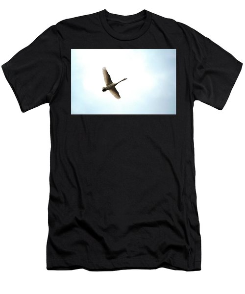Trumpeter Swan In Flight Men's T-Shirt (Athletic Fit)