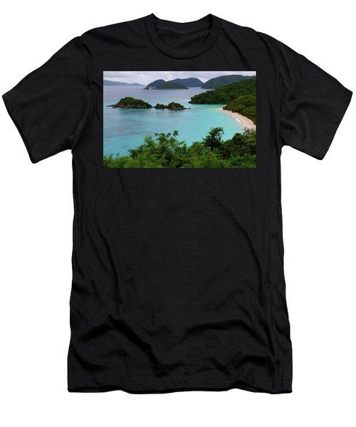 Trunk Bay At U.s. Virgin Islands National Park Men's T-Shirt (Athletic Fit)