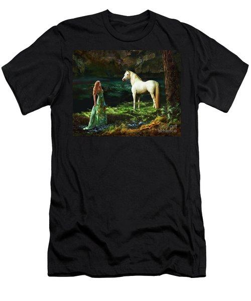 Men's T-Shirt (Athletic Fit) featuring the digital art Trust Me by Melinda Hughes-Berland