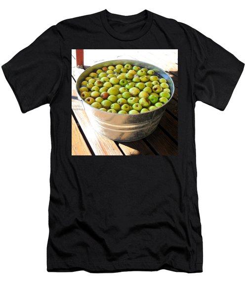 Tub Of Fuji Apples Men's T-Shirt (Slim Fit) by Mark Barclay