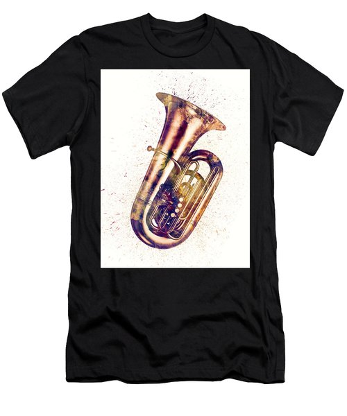 Tuba Abstract Watercolor Men's T-Shirt (Athletic Fit)