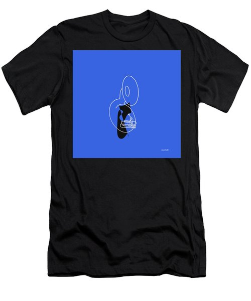 Tuba In Blue Men's T-Shirt (Slim Fit) by David Bridburg