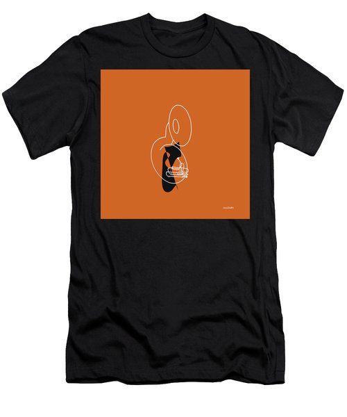 Tuba In Orange Men's T-Shirt (Athletic Fit)