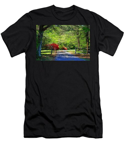 Men's T-Shirt (Slim Fit) featuring the photograph Tucked Away by Kathryn Meyer