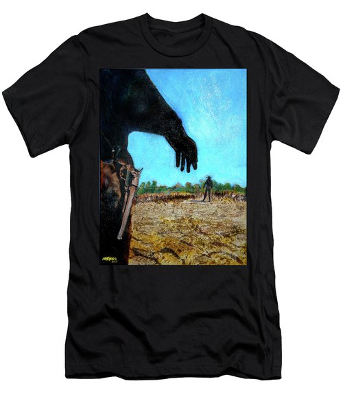 Men's T-Shirt (Slim Fit) featuring the painting Tuco  by Seth Weaver