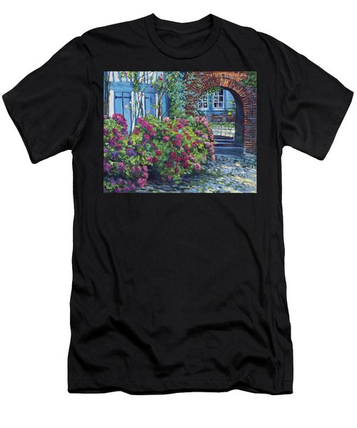 Tudor Hydrangea Garden Men's T-Shirt (Athletic Fit)
