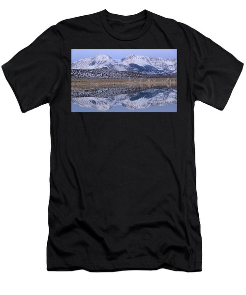 Men's T-Shirt (Athletic Fit) featuring the photograph Tufa Dawn Winter Dreamscape by Sean Sarsfield