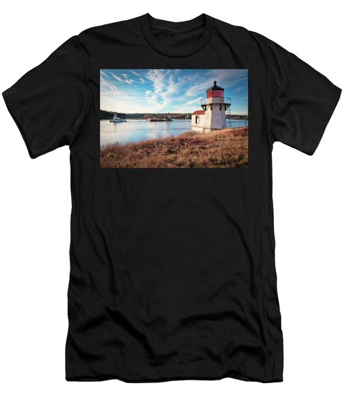 Tugboat, Squirrel Point Lighthouse Men's T-Shirt (Athletic Fit)