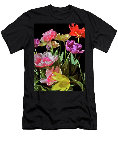 Men's T-Shirt (Slim Fit) featuring the photograph Tulip 8 by Pamela Cooper