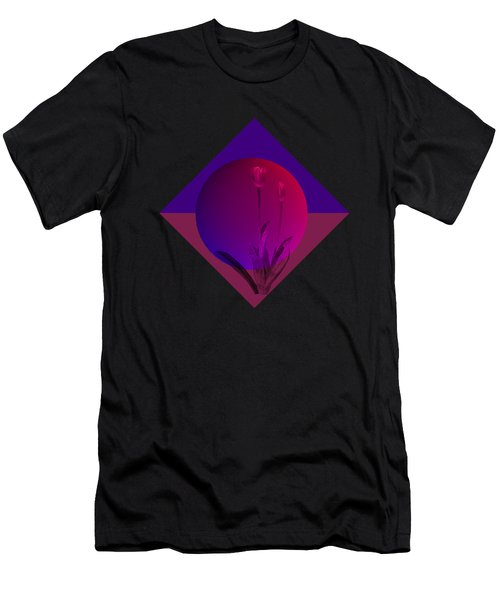 Tulip Abstract Men's T-Shirt (Slim Fit) by Nancy Pauling