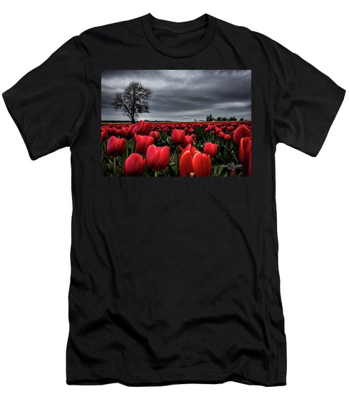 Tulip Fields Men's T-Shirt (Athletic Fit)