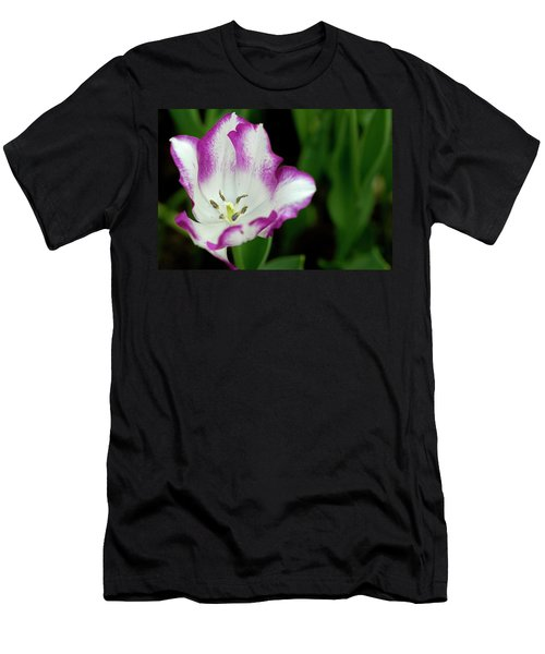 Men's T-Shirt (Athletic Fit) featuring the photograph Tulip Flower by Pradeep Raja Prints