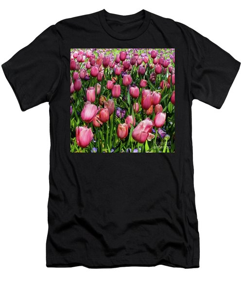 Tulip Flowers  Men's T-Shirt (Athletic Fit)