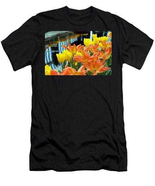 Tulip Garden Men's T-Shirt (Athletic Fit)