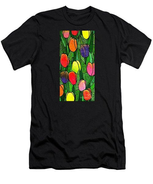 Tulip Glory Men's T-Shirt (Slim Fit) by Jim Harris