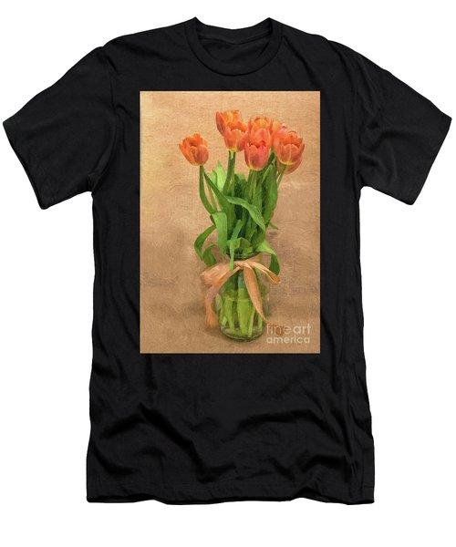 Tulip Impasto Men's T-Shirt (Athletic Fit)