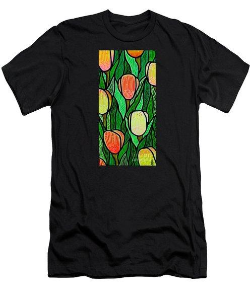 Tulip Joy 2 Men's T-Shirt (Slim Fit) by Jim Harris