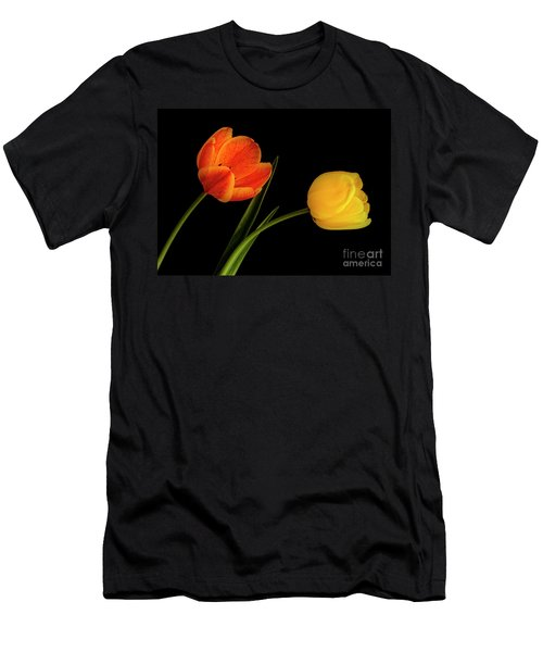 Men's T-Shirt (Athletic Fit) featuring the photograph Tulip Pair by Scott Kemper