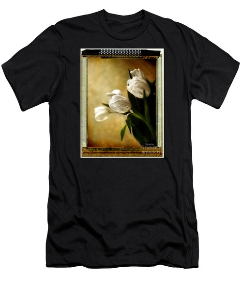 Tulip Side Sepia Men's T-Shirt (Slim Fit) by Linda Olsen
