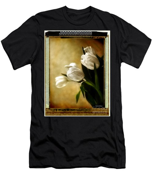 Tulip Side Sepia Men's T-Shirt (Athletic Fit)