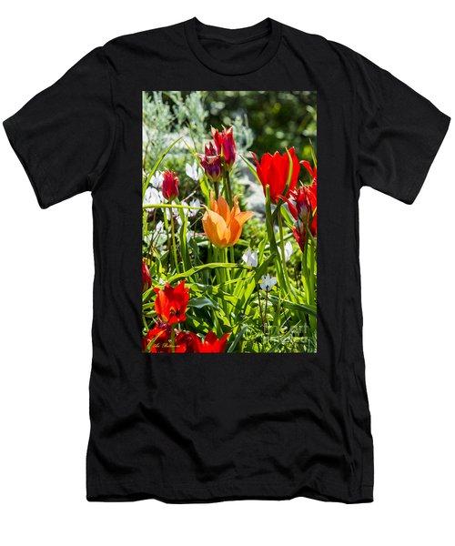 Tulip - The Orange One Men's T-Shirt (Athletic Fit)