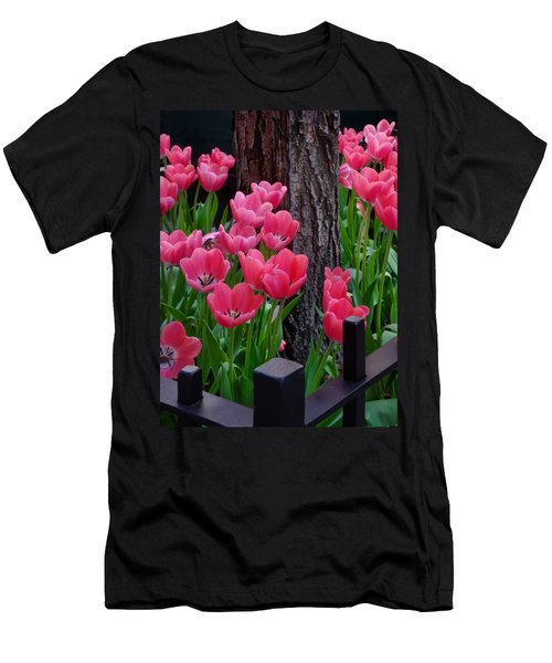 Tulips And Tree Men's T-Shirt (Athletic Fit)
