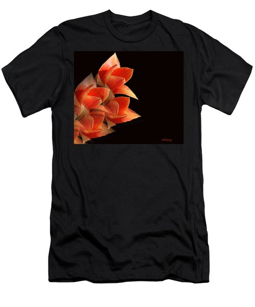 Tulips Dramatic Orange Montage Men's T-Shirt (Athletic Fit)