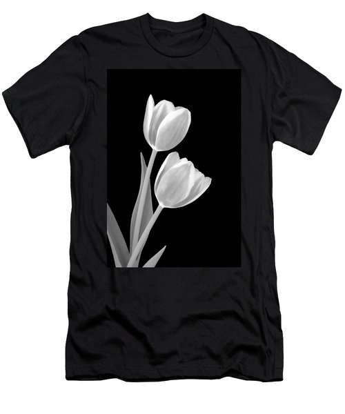 Tulips In Black And White Men's T-Shirt (Athletic Fit)