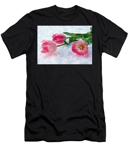 Tulips In Snow Men's T-Shirt (Athletic Fit)