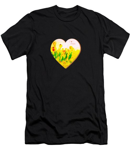 Tulips In Springtime Men's T-Shirt (Athletic Fit)