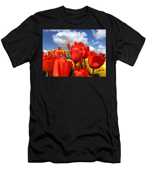 Tulips In The Sky Men's T-Shirt (Athletic Fit)