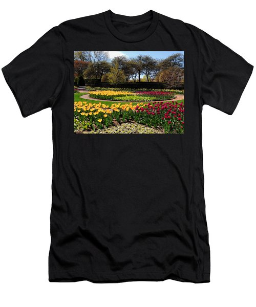 Men's T-Shirt (Slim Fit) featuring the photograph Tulips In The Spring by Teresa Schomig