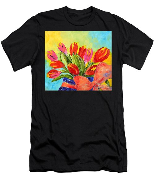 Tulips Tied Up Men's T-Shirt (Athletic Fit)