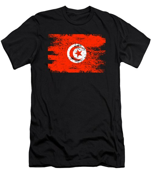 Tunisia Shirt Gift Country Flag Patriotic Travel Africa Light Men's T-Shirt (Athletic Fit)