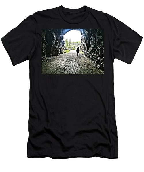 Men's T-Shirt (Slim Fit) featuring the photograph Tunnel Vision by Nadine Dennis