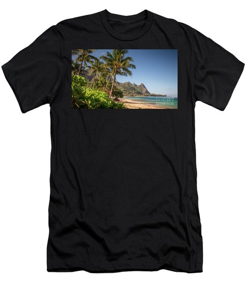Tunnels Beach Haena Kauai Hawaii Bali Hai Men's T-Shirt (Athletic Fit)