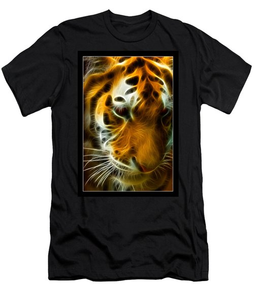 Turbulent Tiger Men's T-Shirt (Athletic Fit)