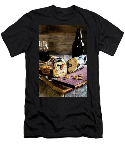 Men's T-Shirt (Slim Fit) featuring the photograph Turkey Bacon Wrap 2 by Deborah Klubertanz