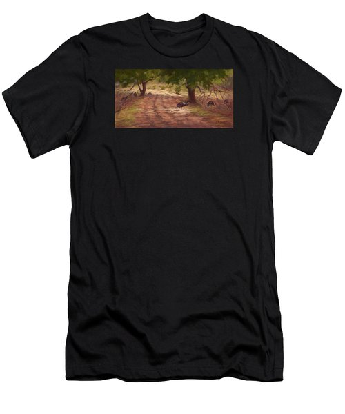 Turkey Tracks Men's T-Shirt (Athletic Fit)
