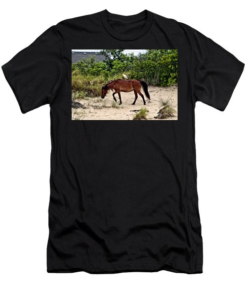 Turn Right At The Next Bush Men's T-Shirt (Athletic Fit)