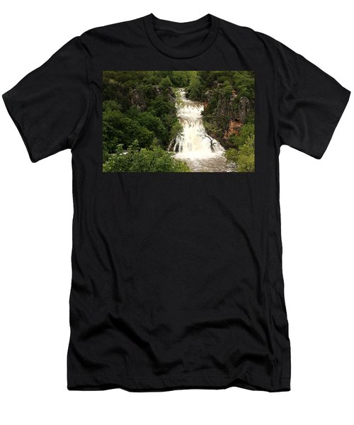 Turner Falls Waterfall Men's T-Shirt (Athletic Fit)
