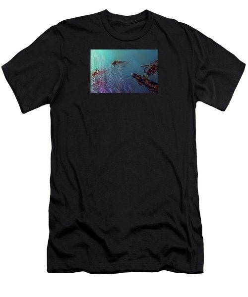 Turquoise Current And Seaweed Men's T-Shirt (Athletic Fit)